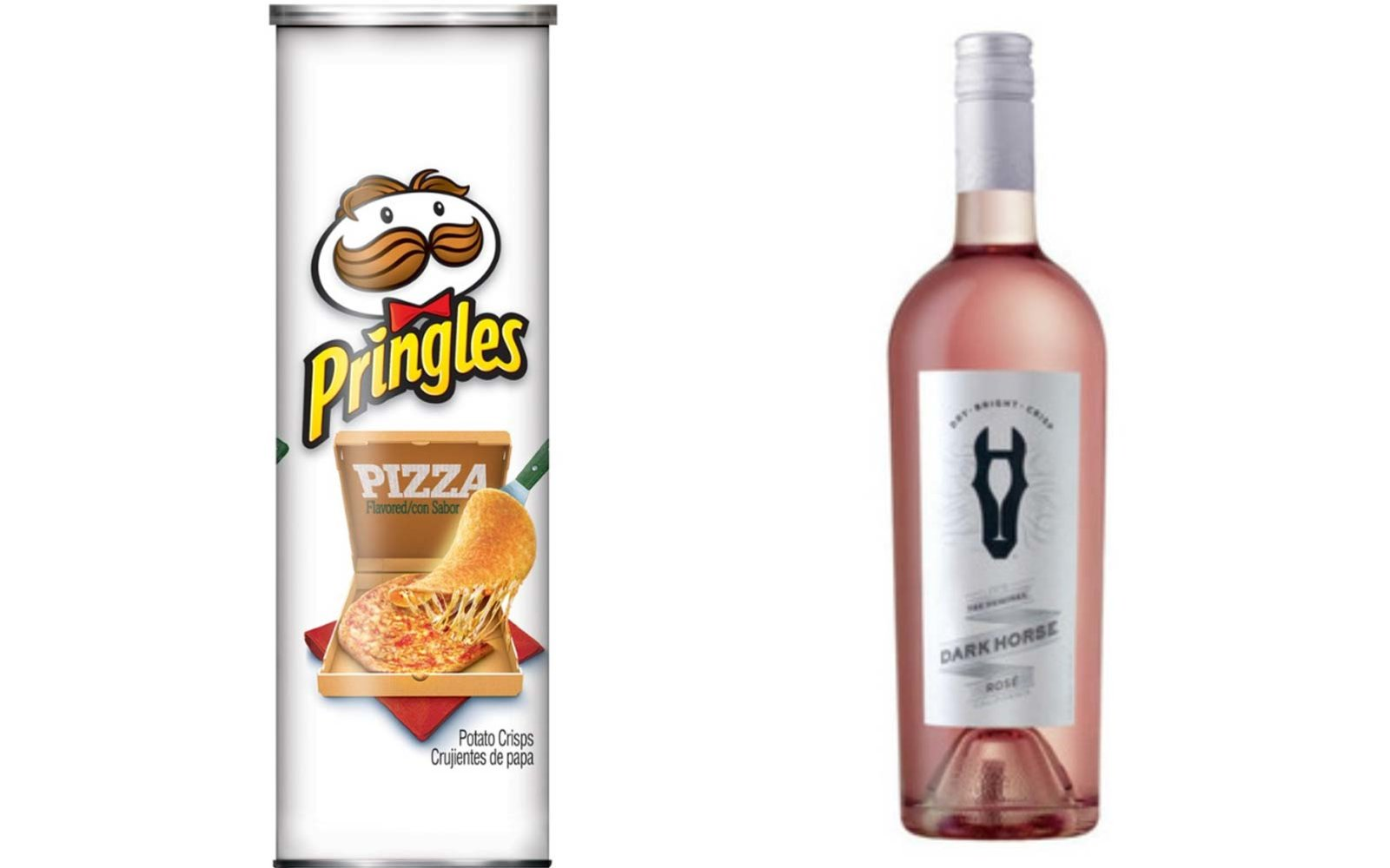 Pizza Pringles with Rosé