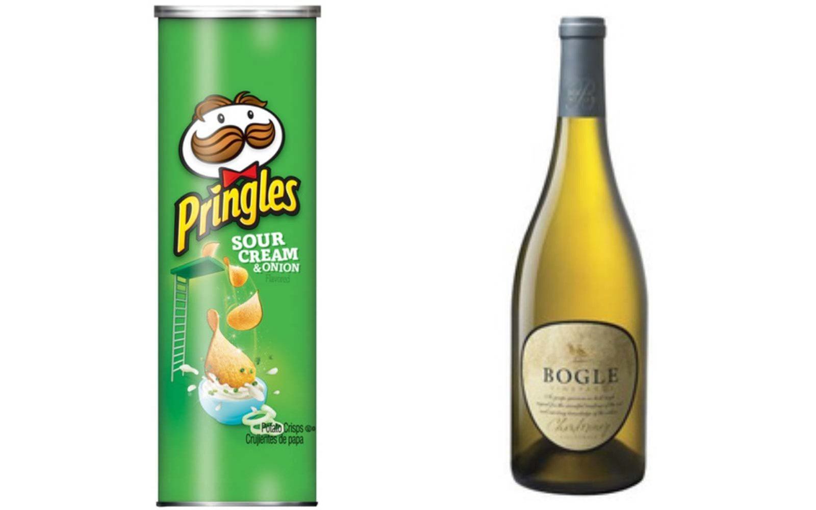 Sour Cream & Onion Pringles with Chardonnay