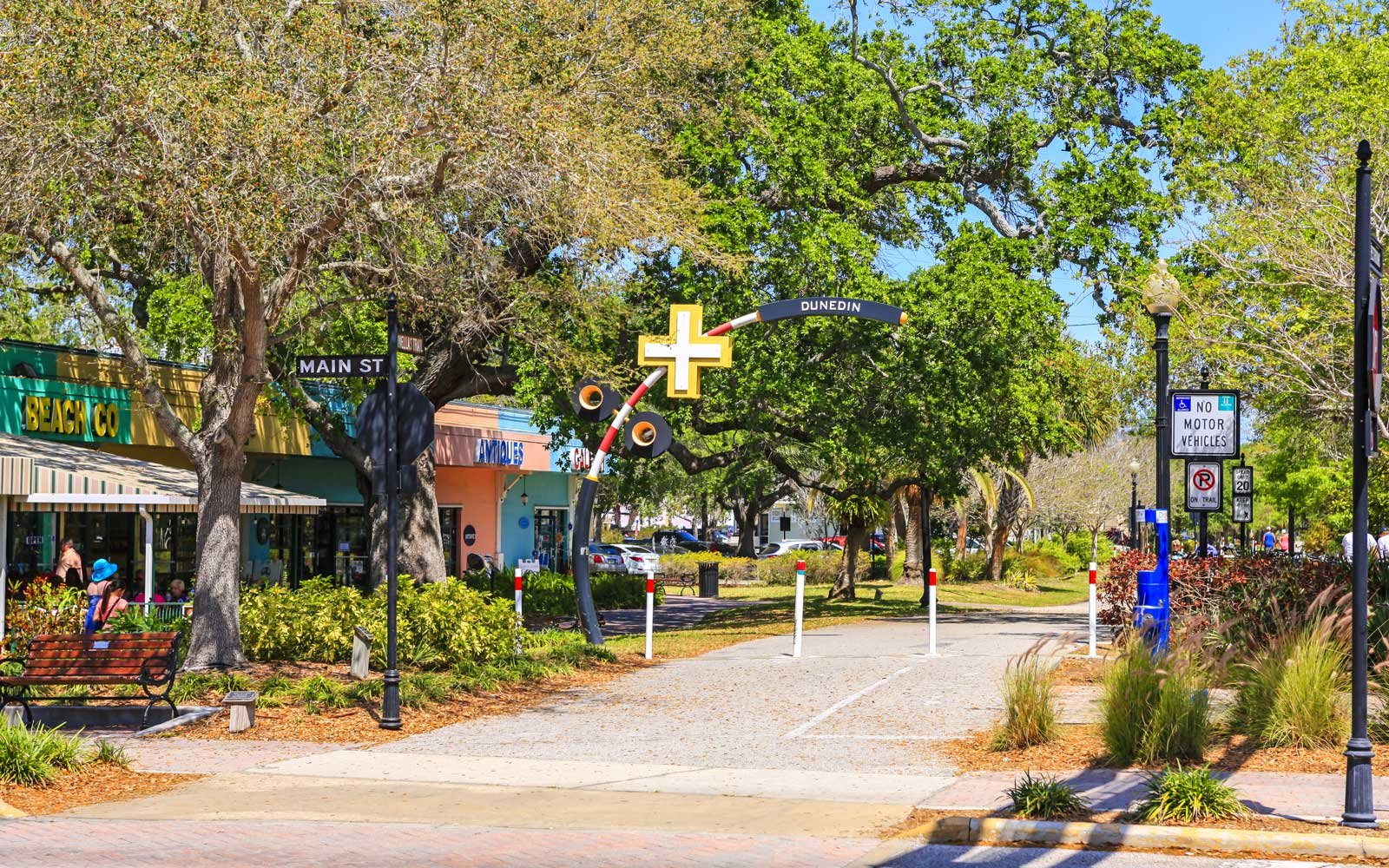 The Fred Marquis Pinellas Trail in downtown Dunedin, Florida