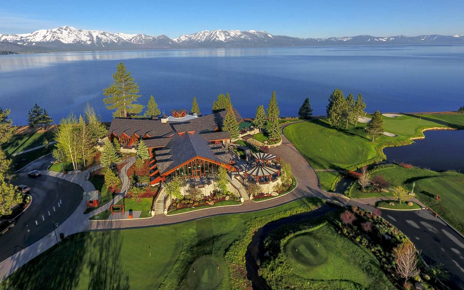 Aerial view of The Lodge at Edgewood, Lake Tahoe