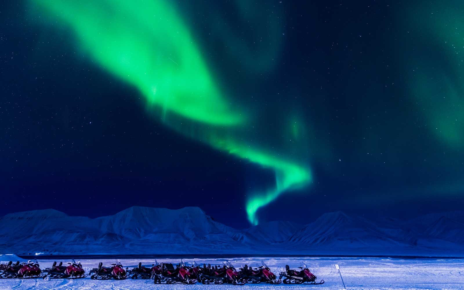Svalbard is the only inhabited place in the world where you can experience the northern lights during the day.