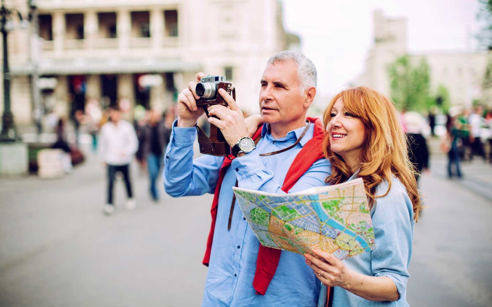 Tourists in Europe
