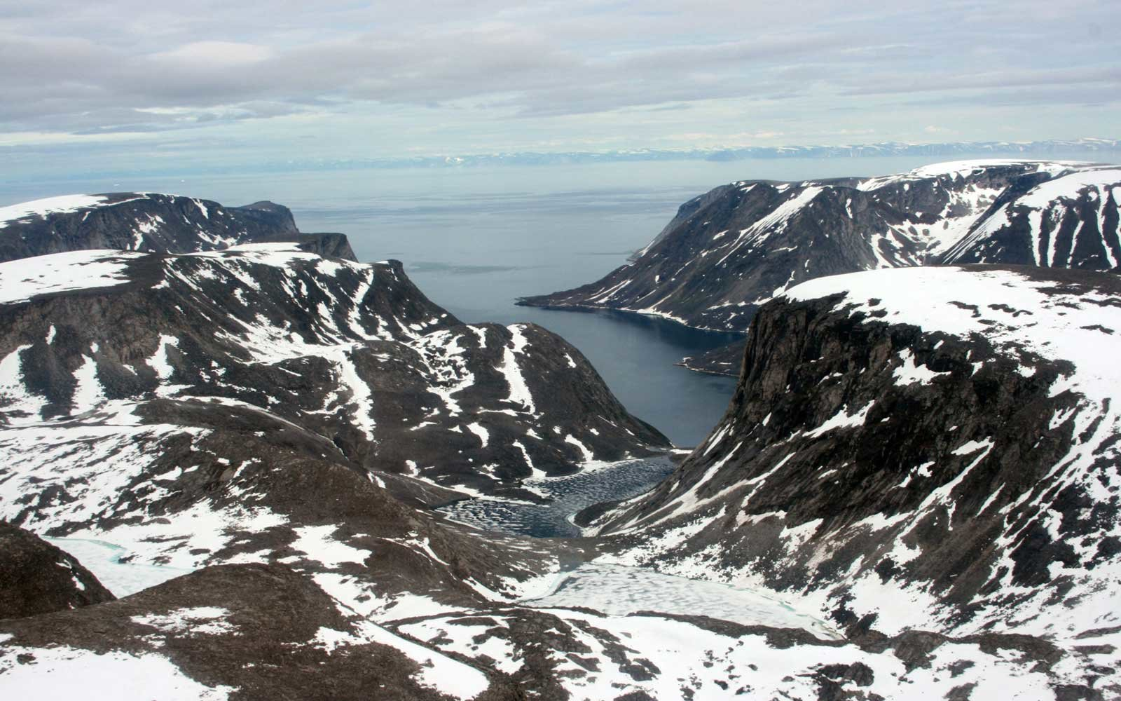 A view of Baffin Island in Canada.