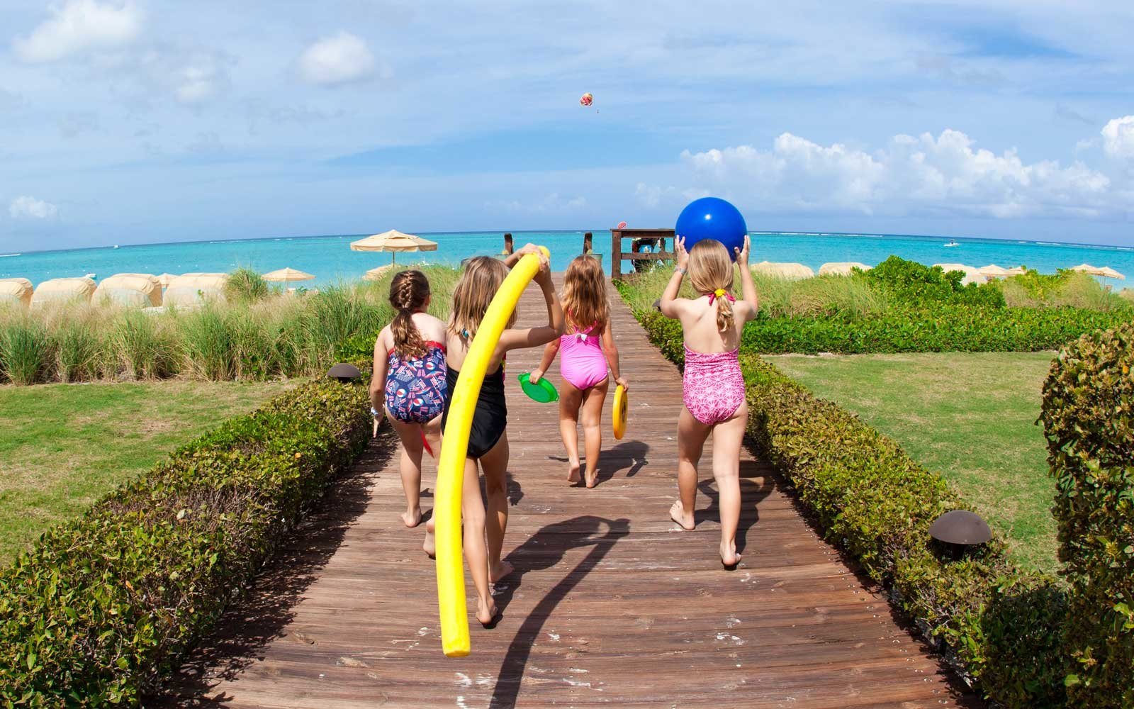 Kids playing at the Somserset on Grace Bay