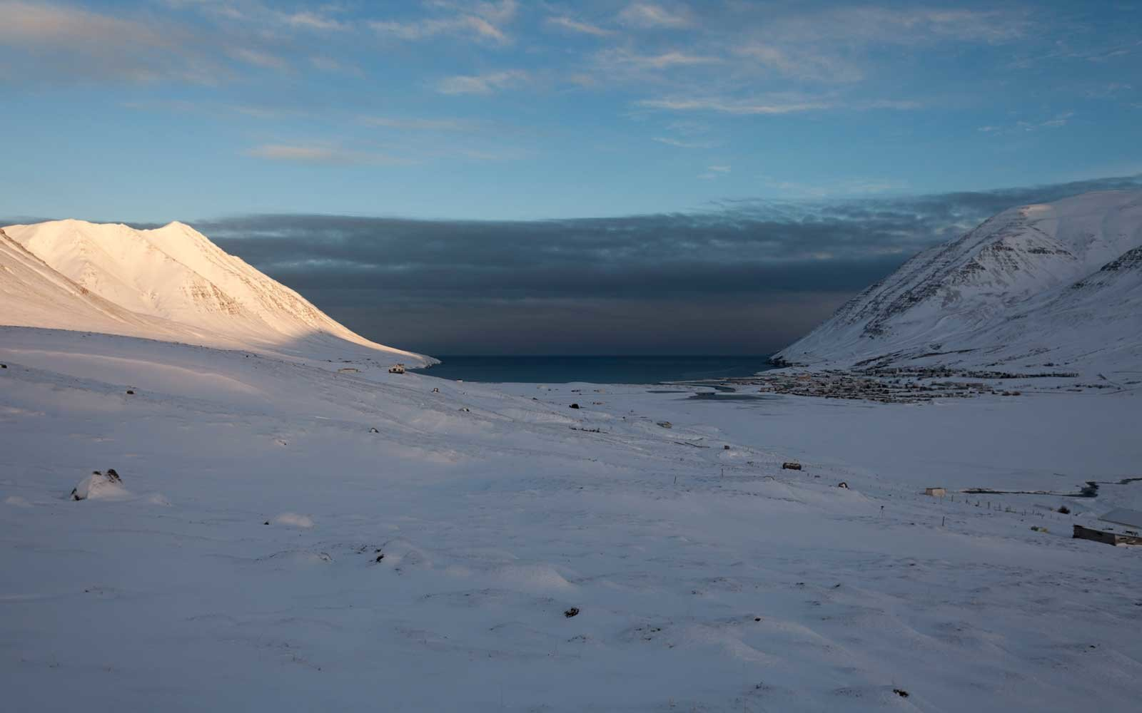 North Iceland during wintertime
