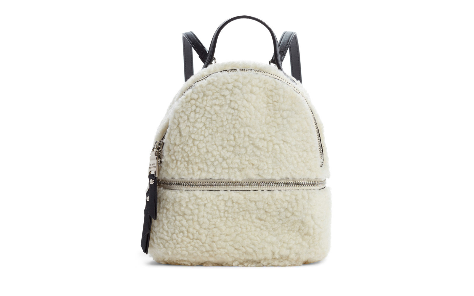small faux fur backpack