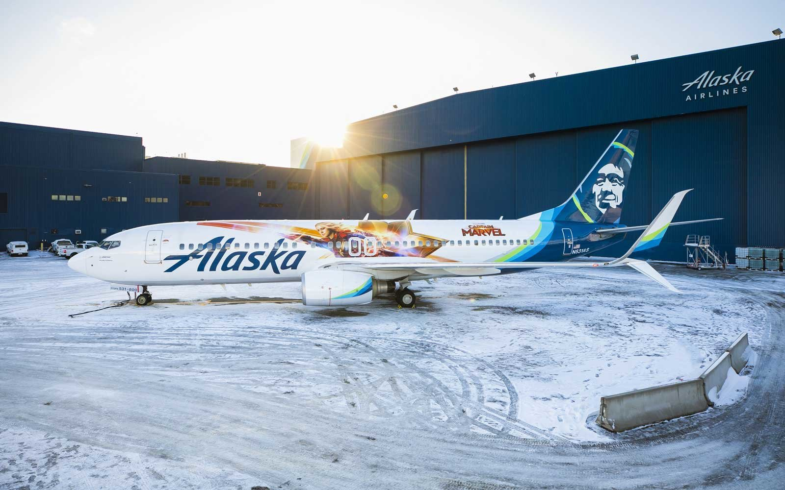 0dc038ae27 Captain Marvel  Fans Will Be Obsessed With This New Alaska Airlines ...