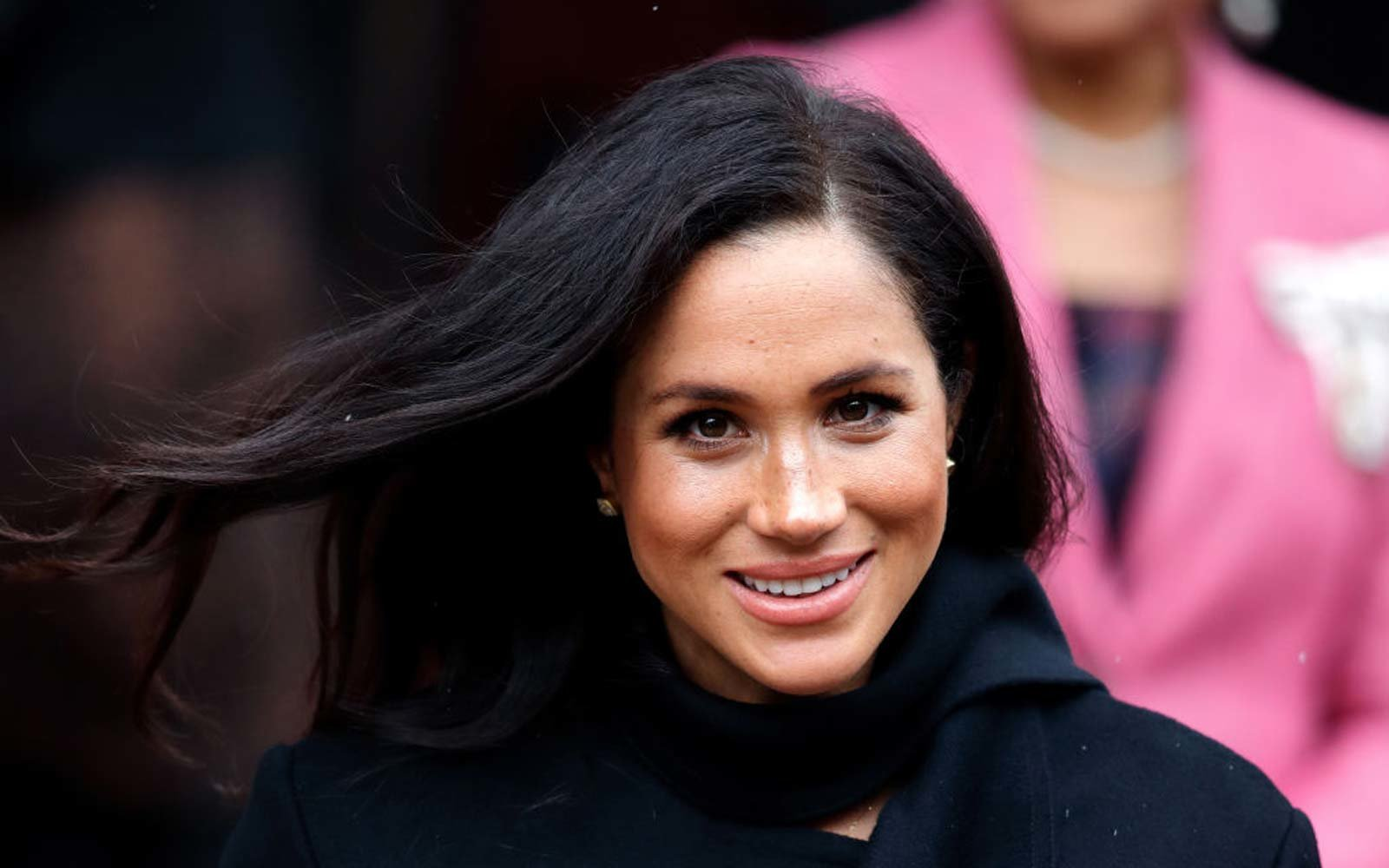 Meghan, Duchess of Sussex departs after visiting the Bristol Old Vic