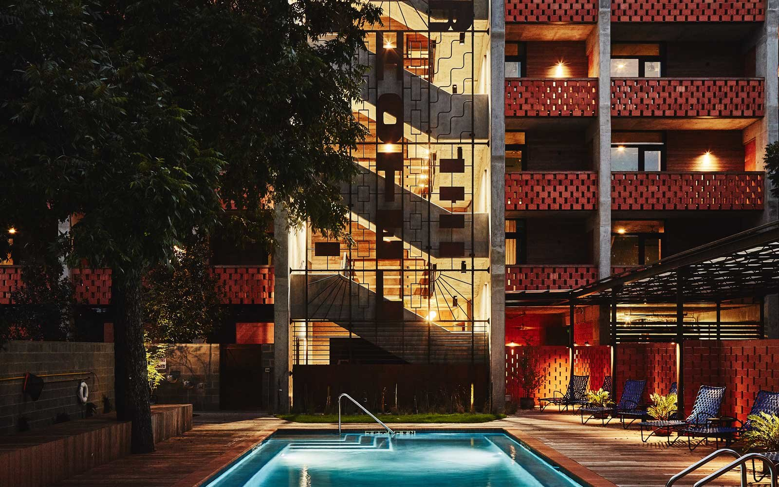 Pool at the Carpenter Hotel in Austin, Texas