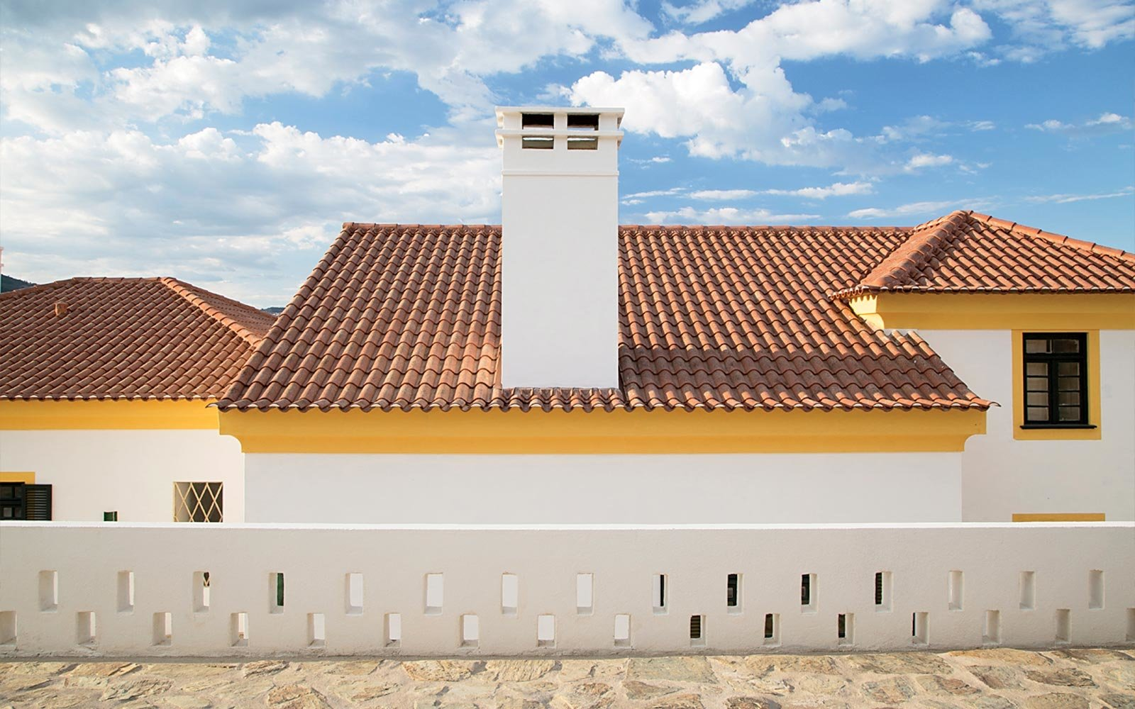 Exterior of the Quinta da Corte resort in Portugal