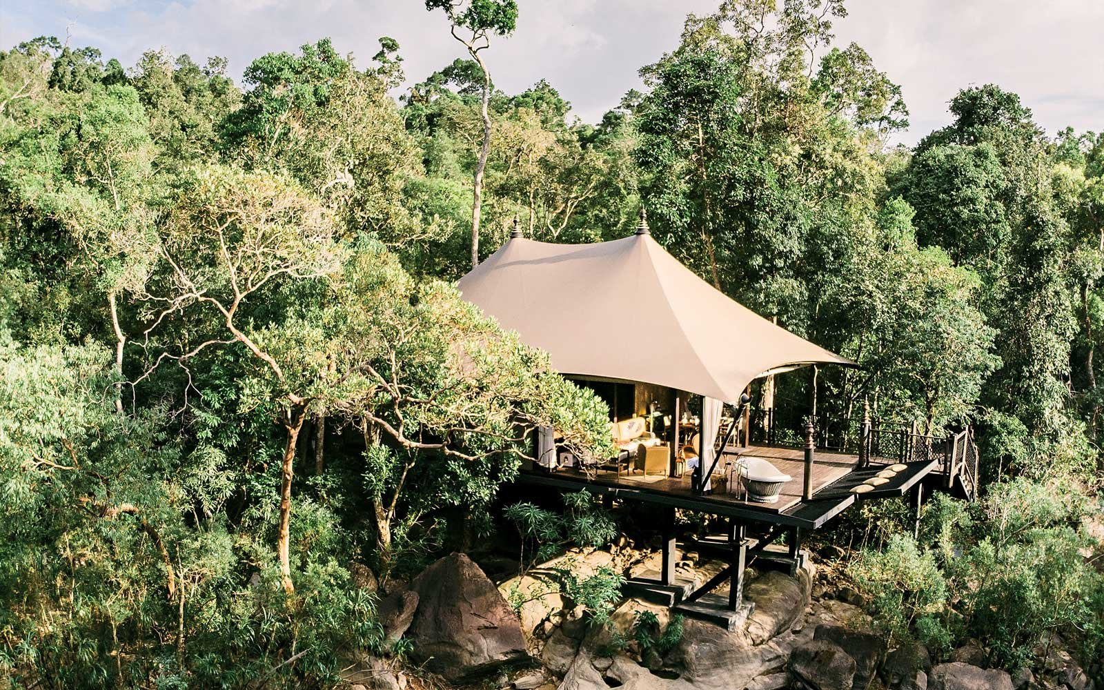 Tent at Shinta Mani Wild in Cambodia