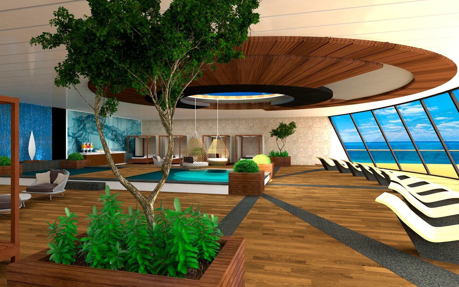 Solarium Aboard Blue World Voyage