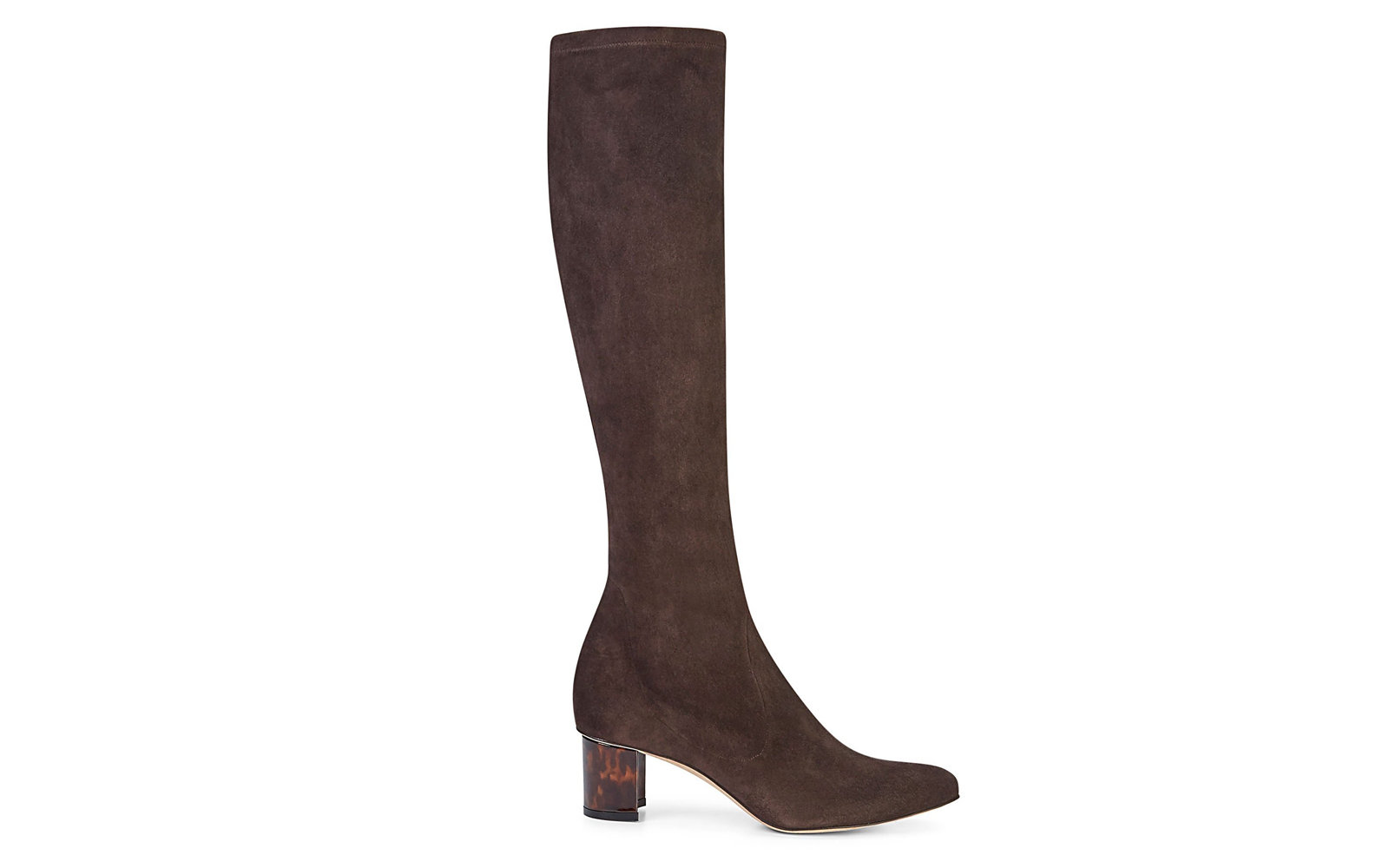 Alexandra Knee-high Boot in Chocolate Stretch Suede