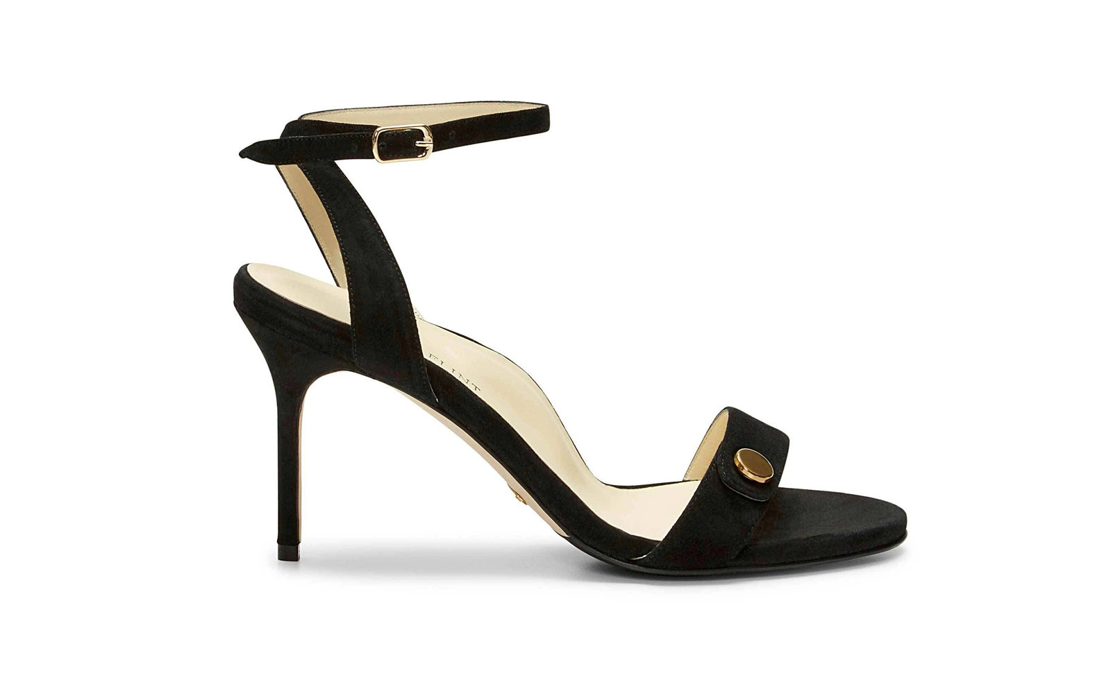 Jet Set Sandal 85 From the Sarah Flint x Cindy Crawford Collection in Black Suede