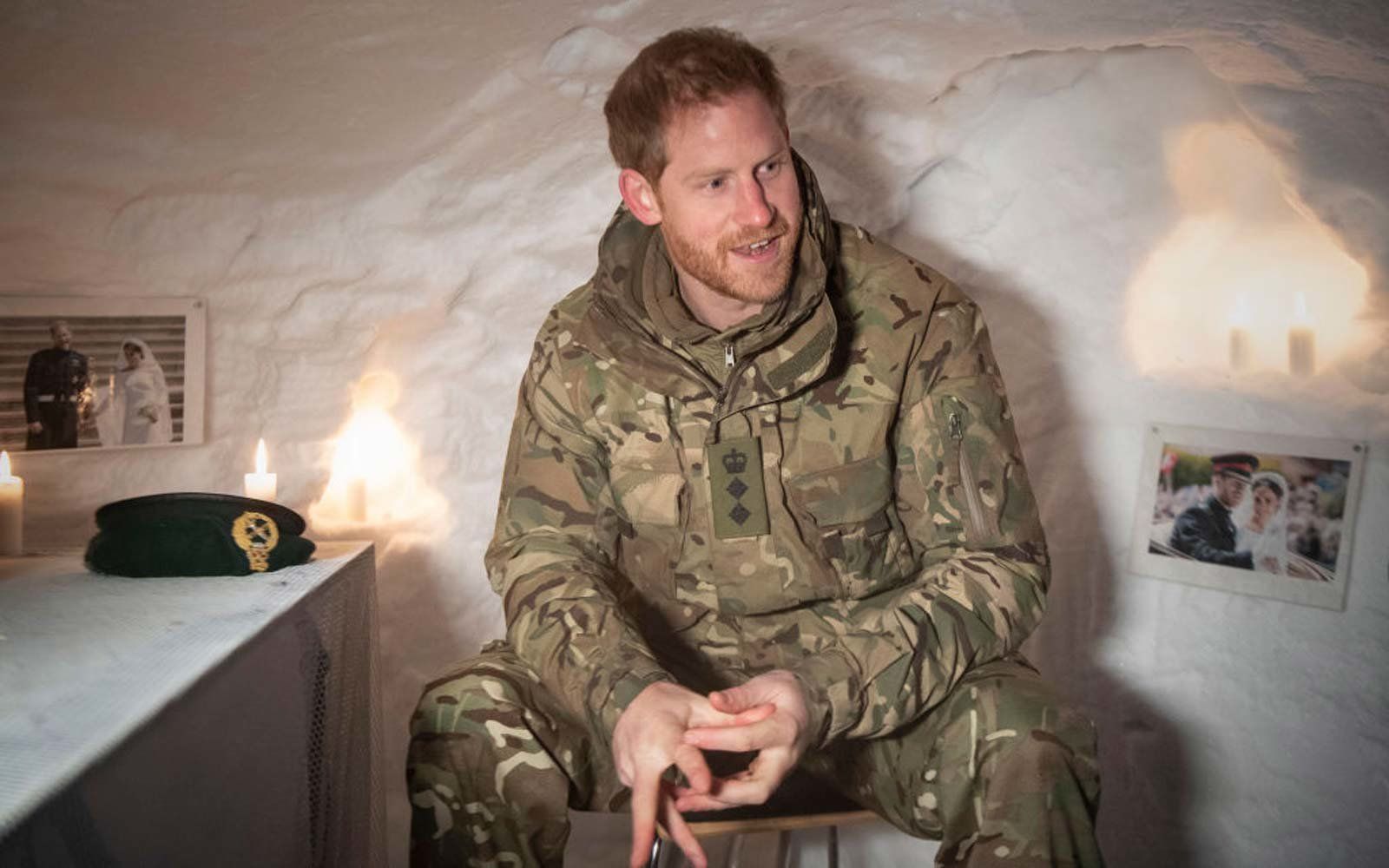 Prince Harry Spent Valentine's Day in an Igloo Decorated With Royal Wedding Photos — and He Found It Hilarious