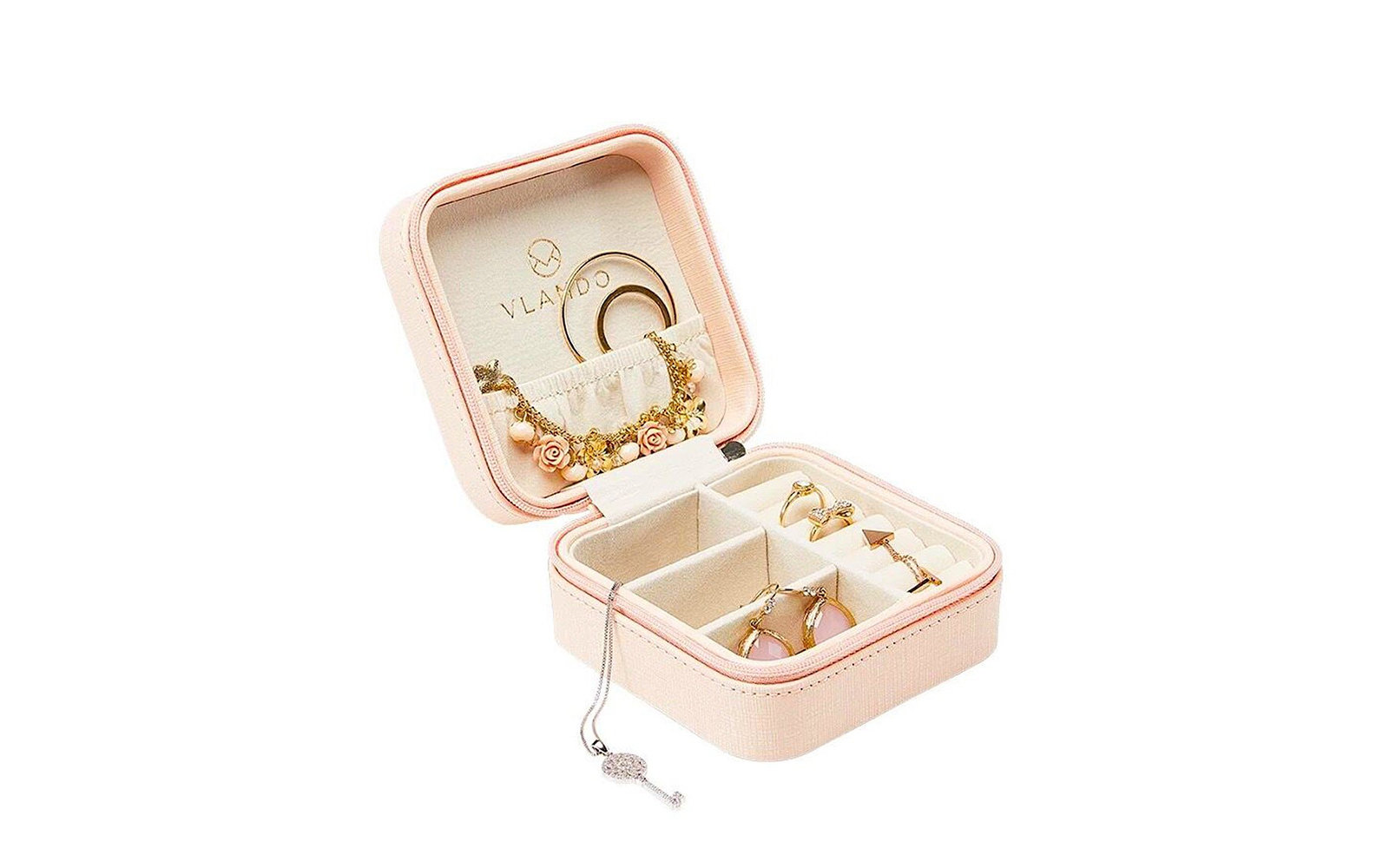 Vlando Small Travel Jewelry Box