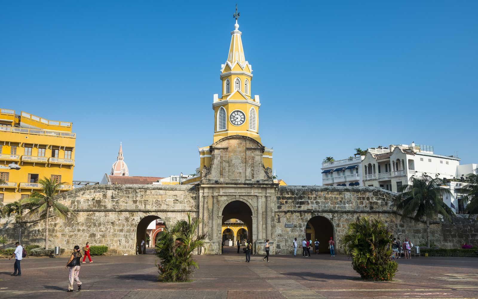 Torre del Reloj Publico (Public Clock Tower), UNESCO World Heritage Site, Cartagena, Colombia
