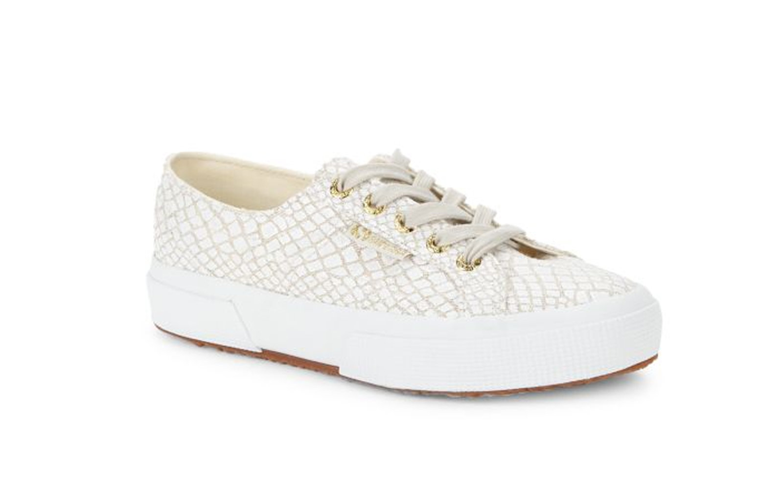 Superga Printed Canvas Platform Sneakers