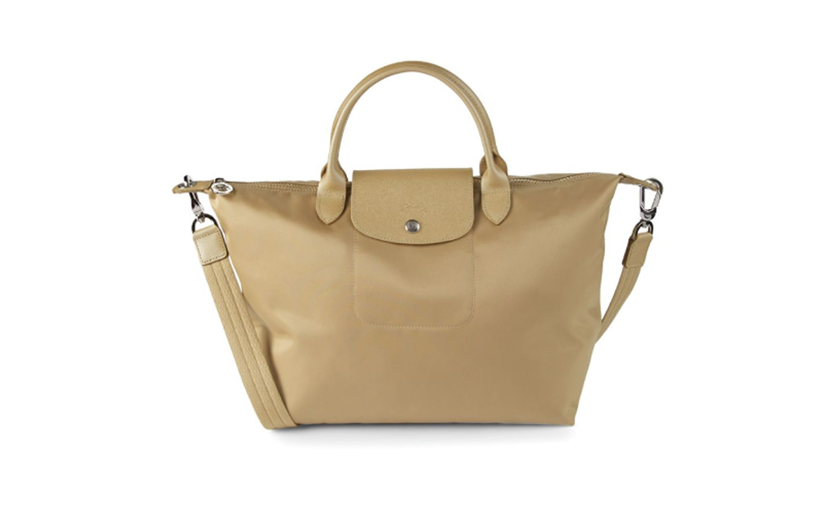 Longchamp Medium Le Pliage Tote in Gold