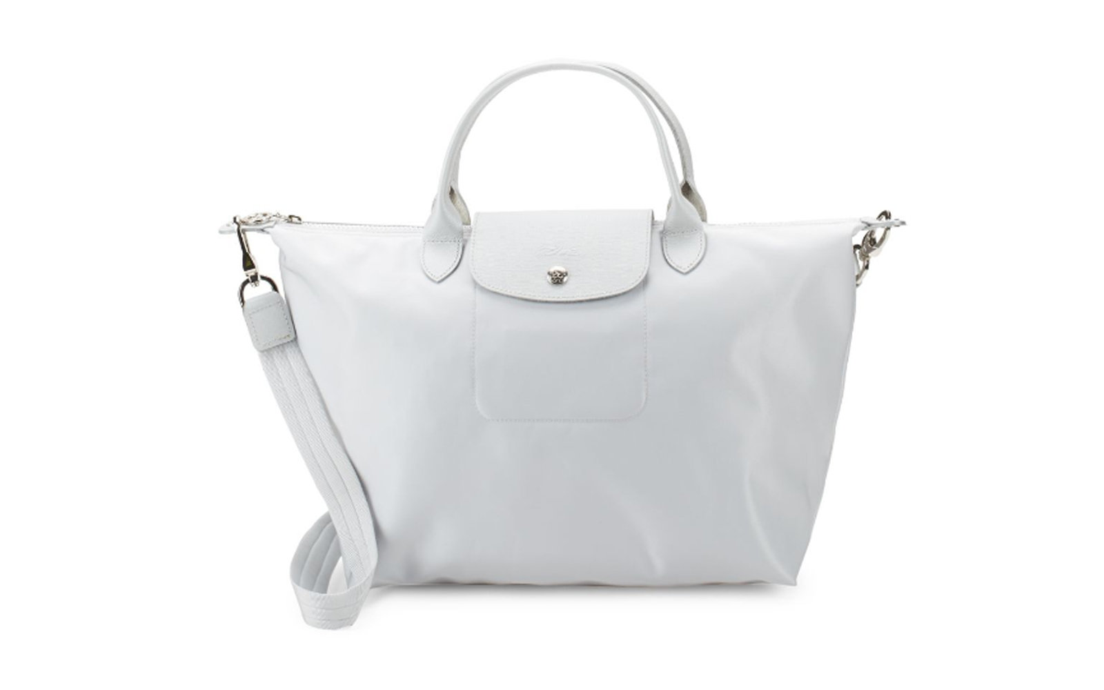 Longchamp Le Pliage Neo Medium Top Handle Bag in Silver