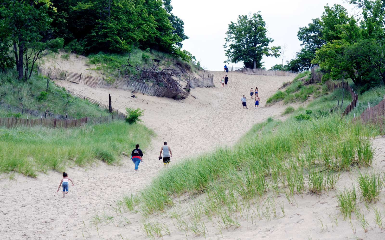 Indiana Dunes State Park Lake Michigan Devil's Slide
