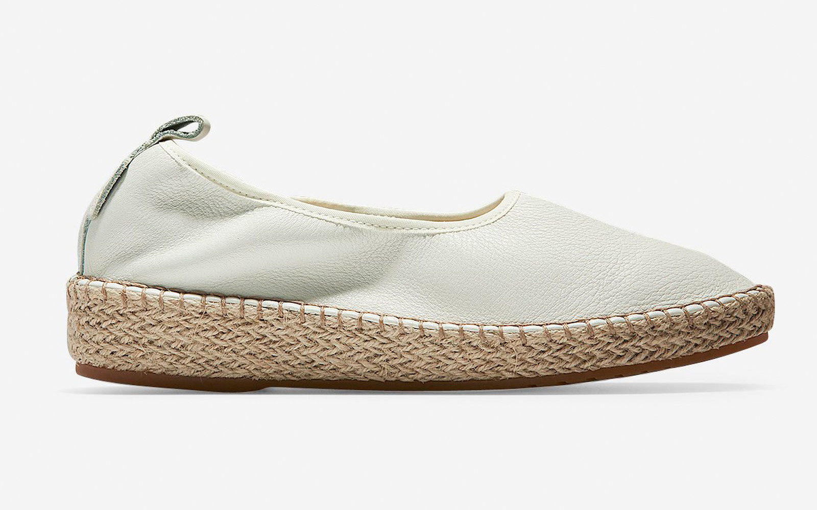 Cloudfeel Espadrille in Chalk Leather
