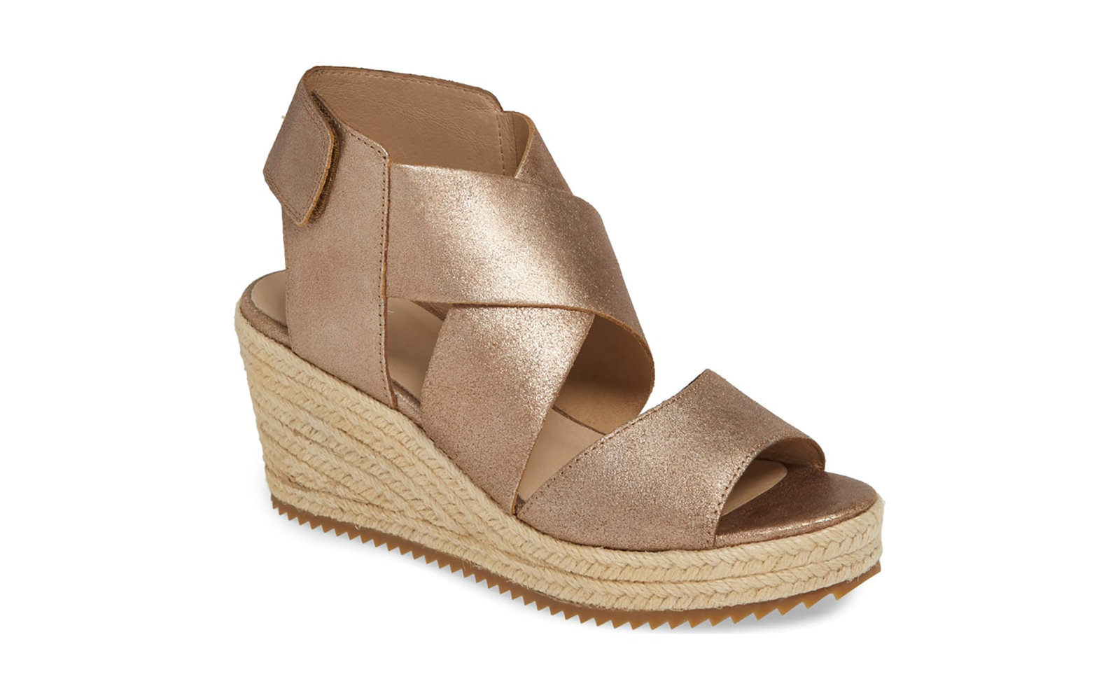 683fb43c393770 Most Comfortable Strappy Wedge  Eileen Fisher Willow Espadrille Wedge Sandal
