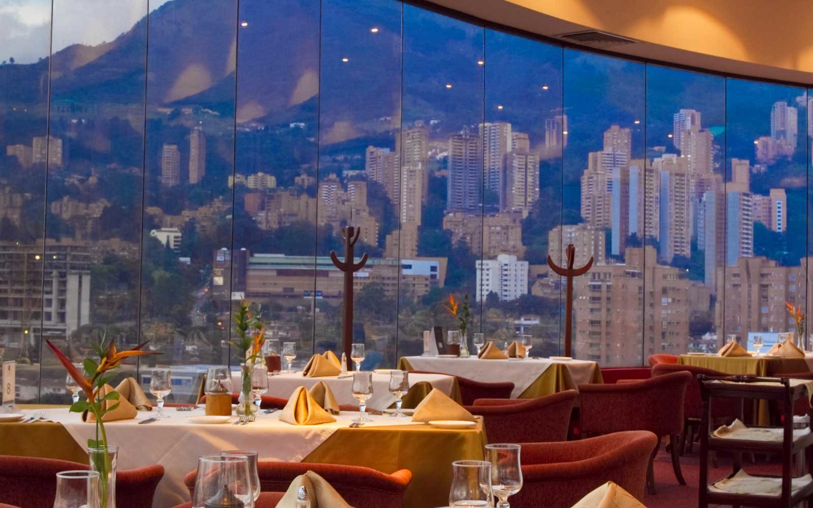 View from the restaurant at the Dann Carlton Hotel Medellin, Colombia