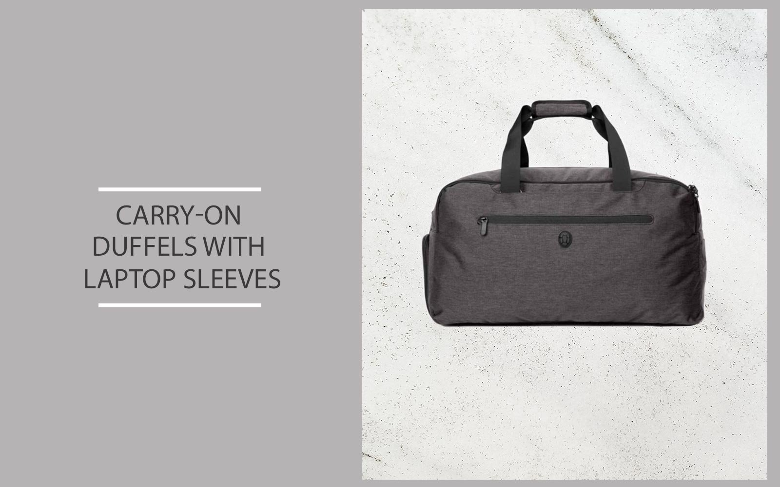Duffel bag with laptop sleeve