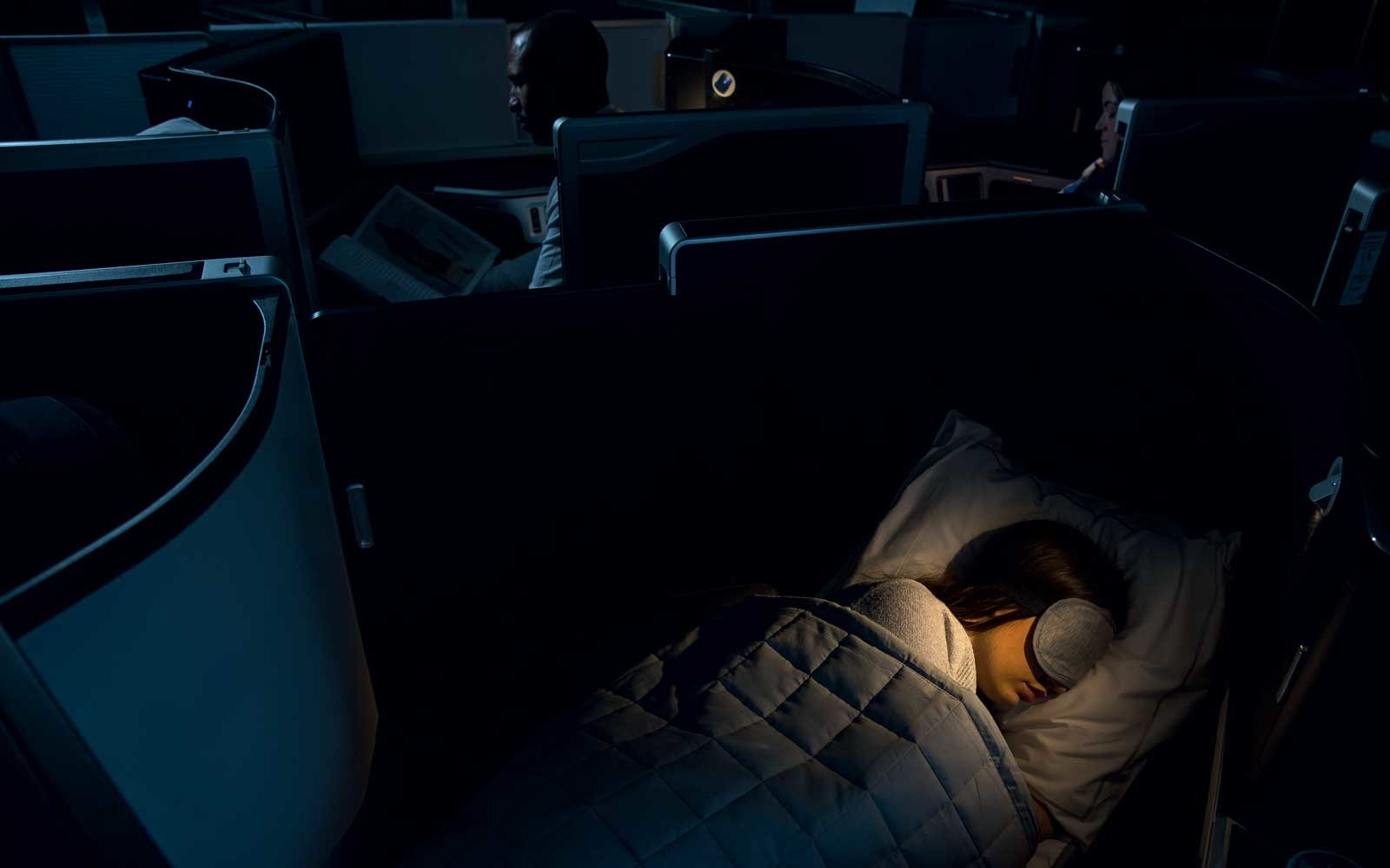 New British Airways business class seat features door and lie-flat beds