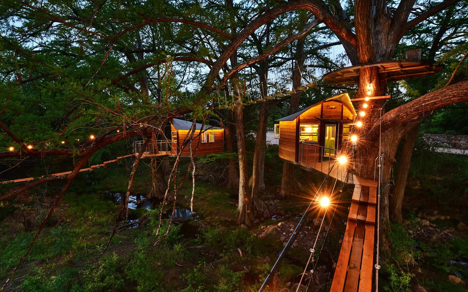 You Can Sleep Inside a Treehouse and Go Zip Lining at This Texas Resort