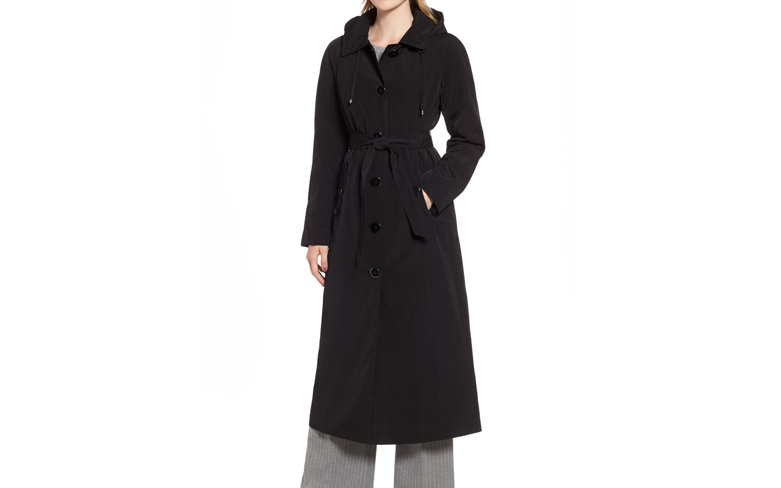 Best Hooded Trench Coat: London Fog Long Trench Coat