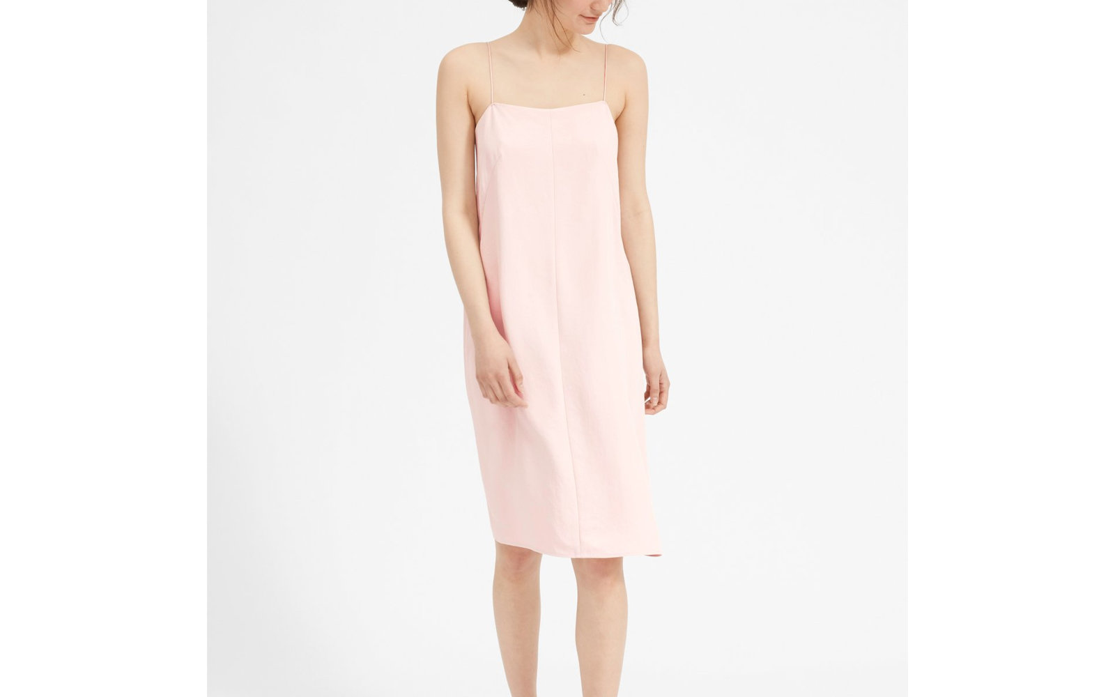 The Japanese GoWeave Cami Slip Dress in Rose