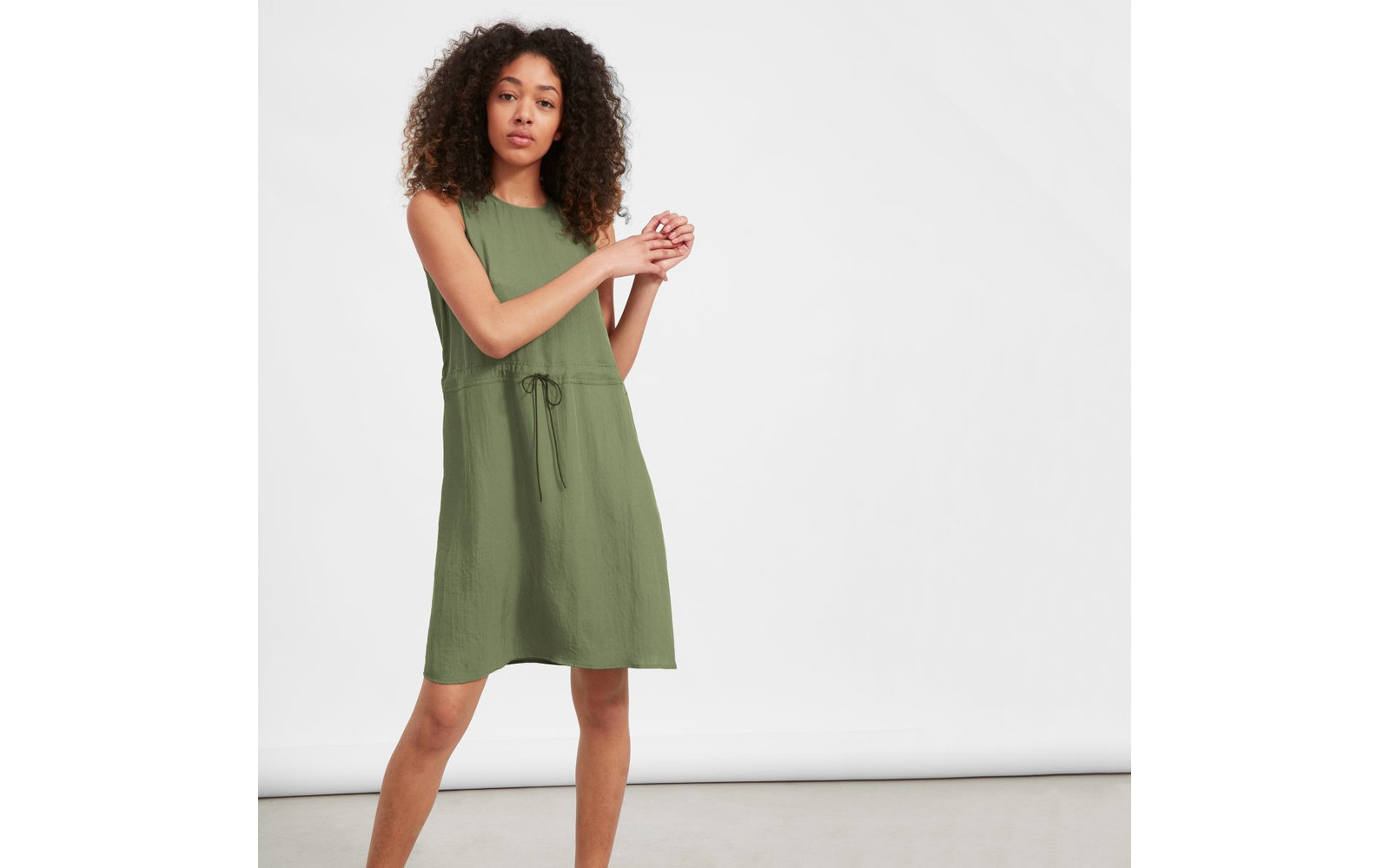 The Japanese GoWeave Light Drawstring Dress in Surplus