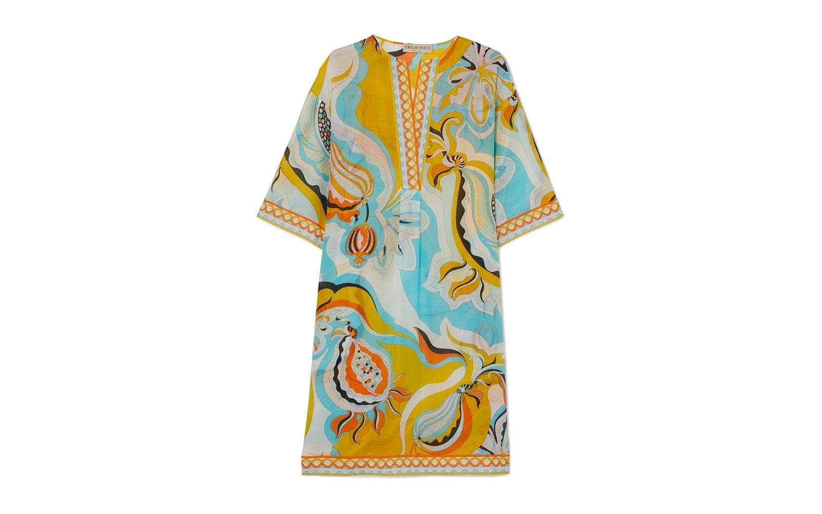 Emilio Pucci printed cotton and silk-blend voile kaftan