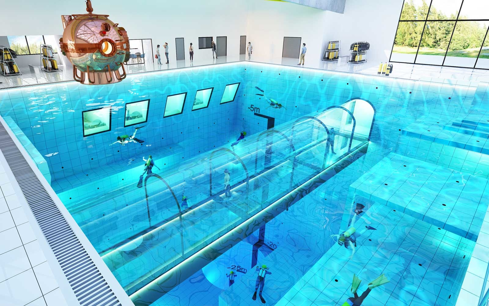 The World\'s Deepest Pool Will Have Hotel Rooms With Underwater Views ...