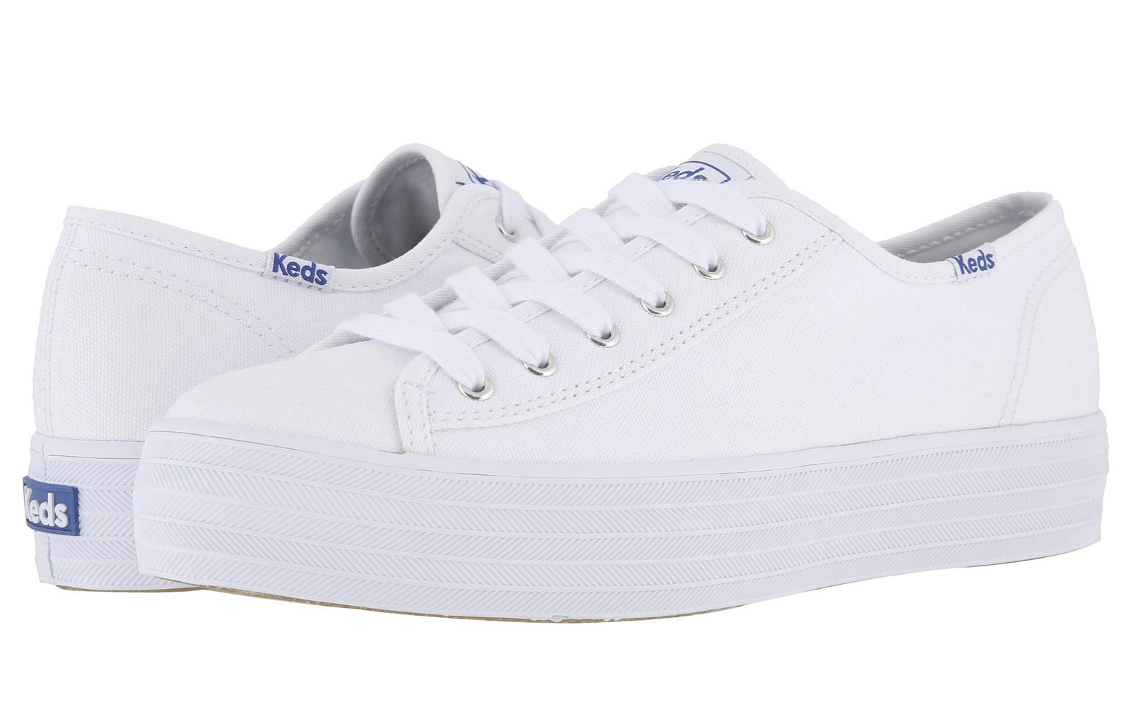 6962b95e55154 Keds Triple Kick Canvas. Best White Sneakers for Women