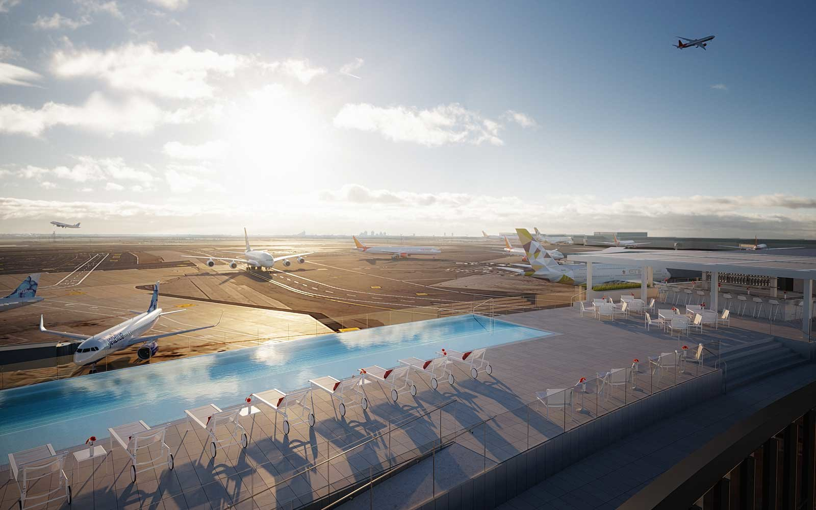 NYC's Most Unbelievable Rooftop Pool Is Opening at the Airport This Summer