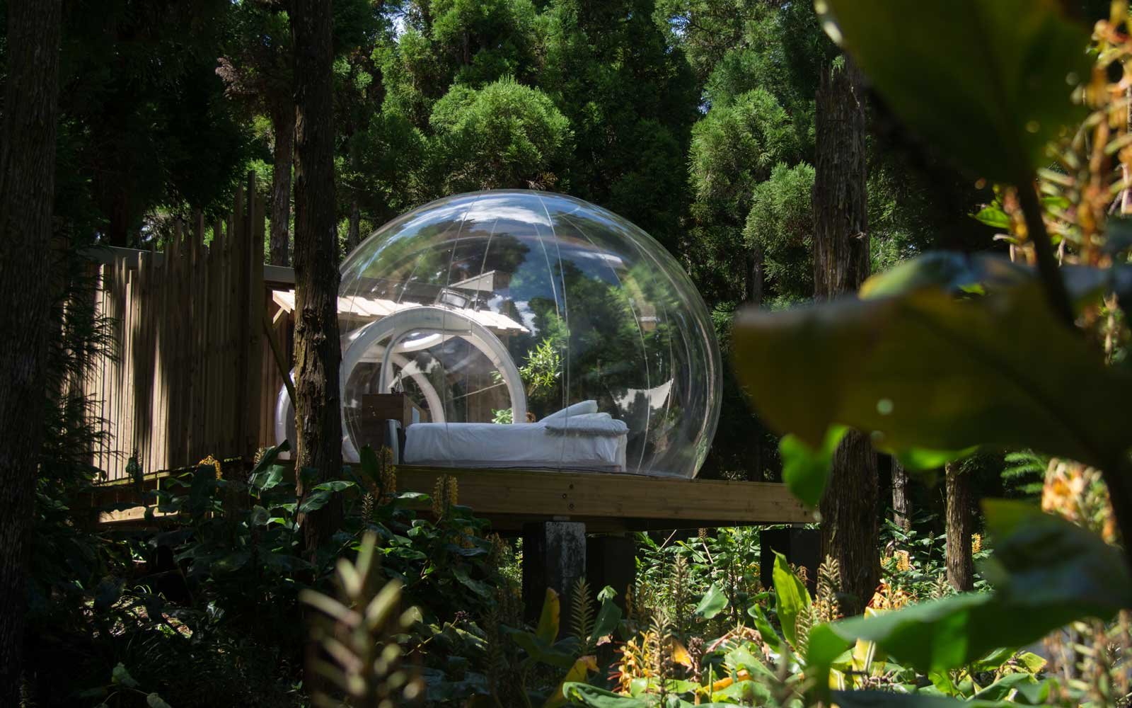 Clear dome stay on La Reunion Island