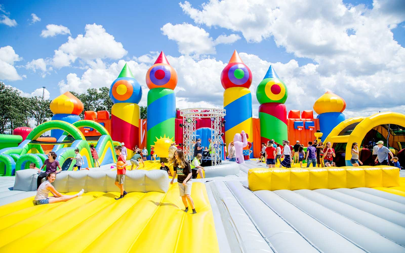 The World's Largest Bounce House Is Going on Tour This Summer