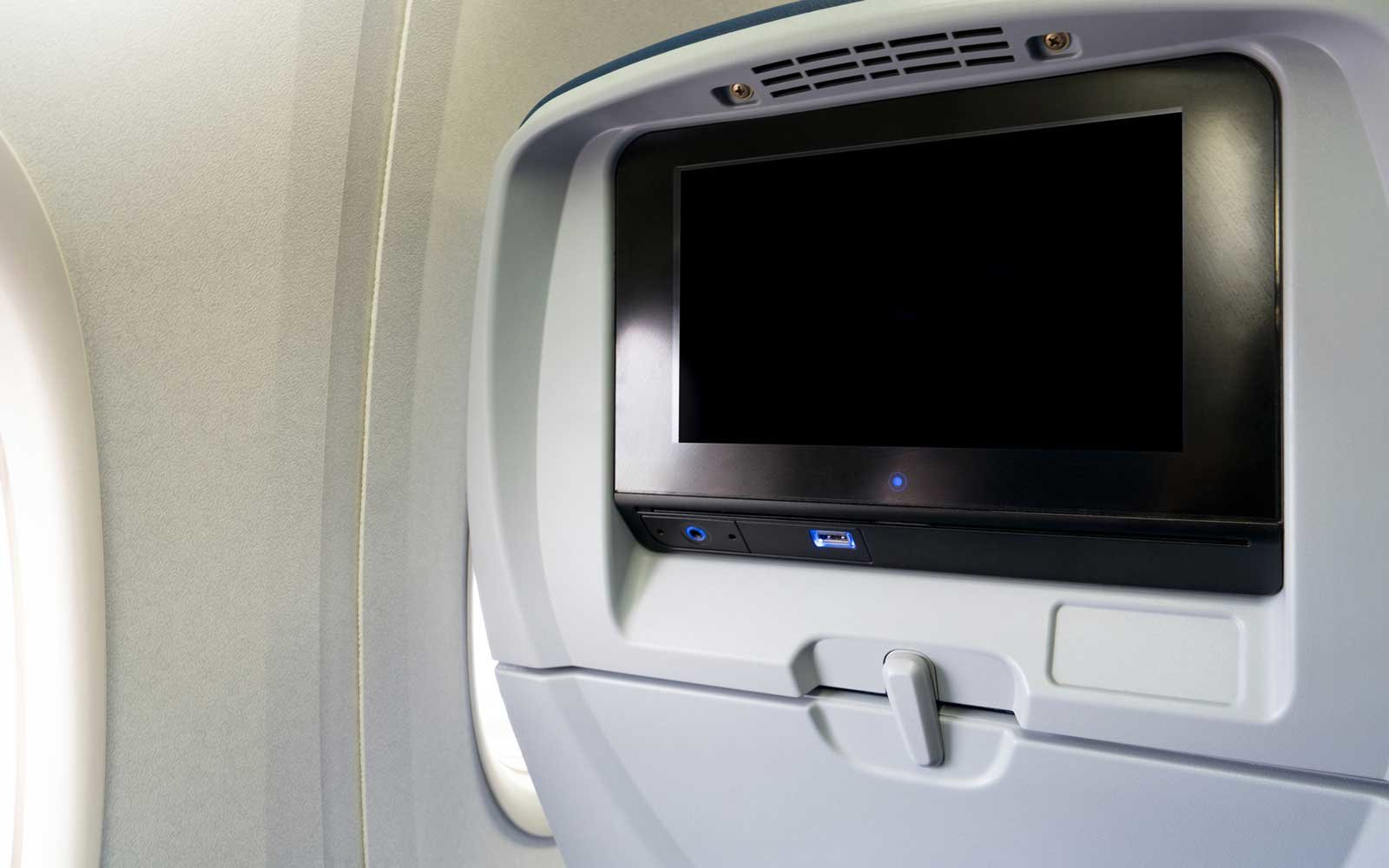 Airlines In-flight entertainment screen