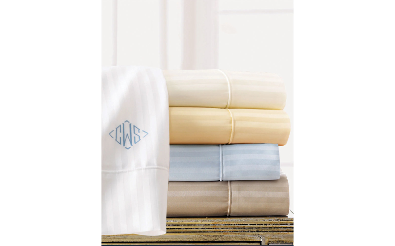 Sferra Pima Stripe Sheet Set