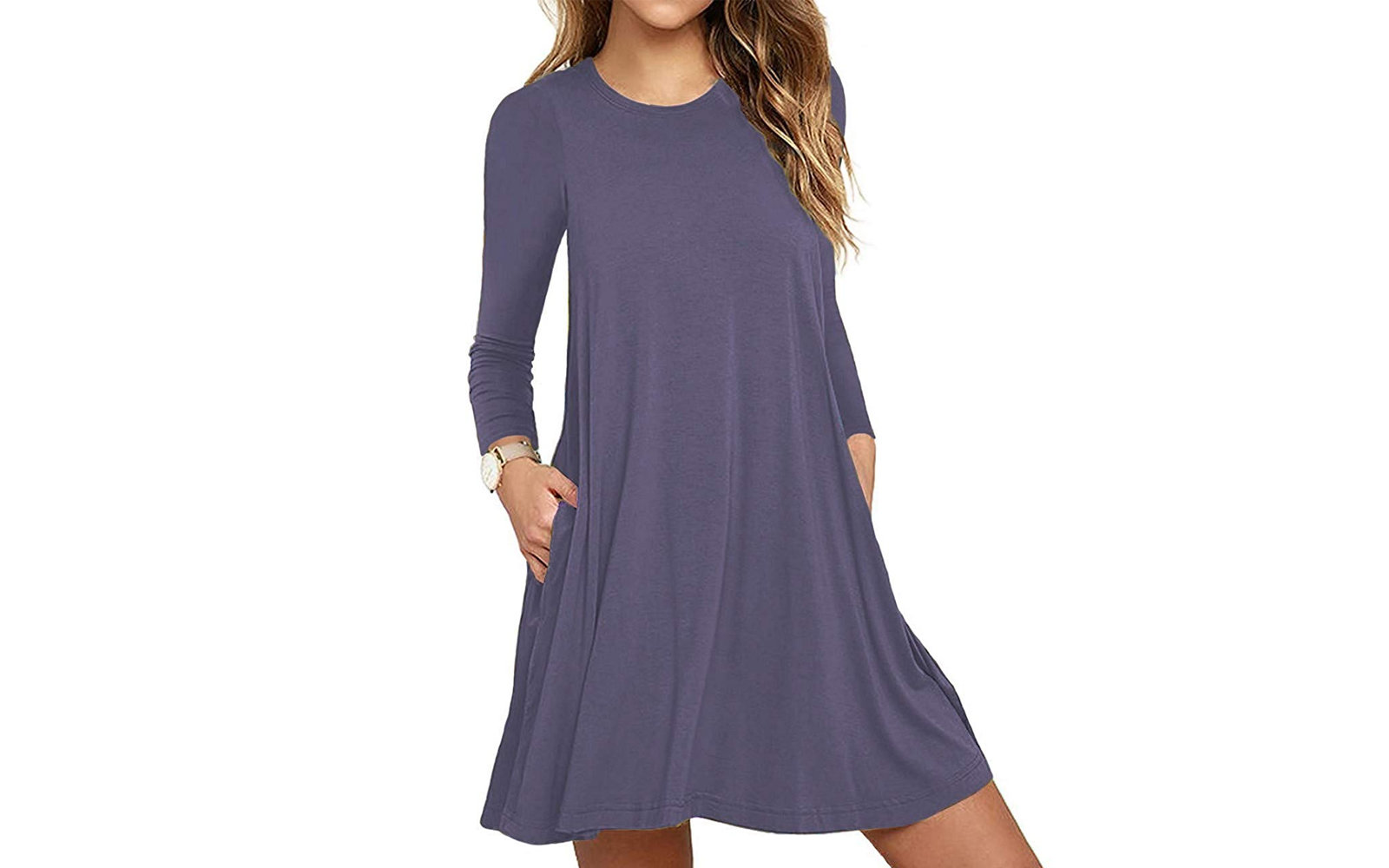 Unbranded Long-sleeve T-shirt Dress