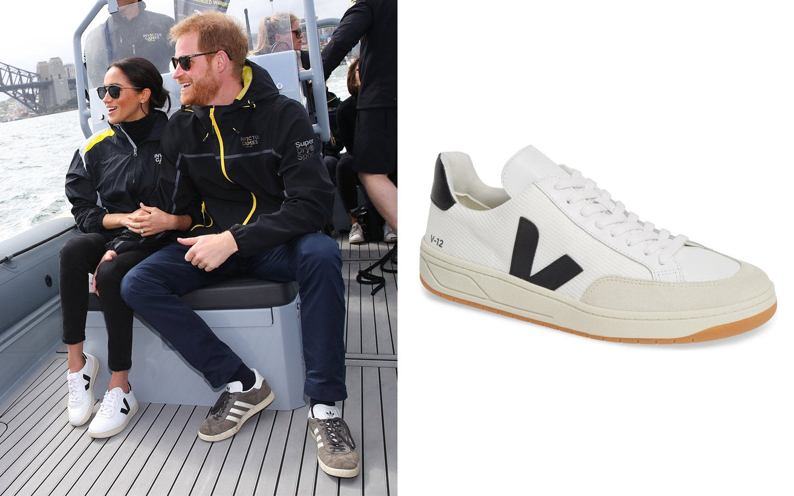 official photos d8bba 0e789 Meghan Markle in Veja V-12 Sneaker