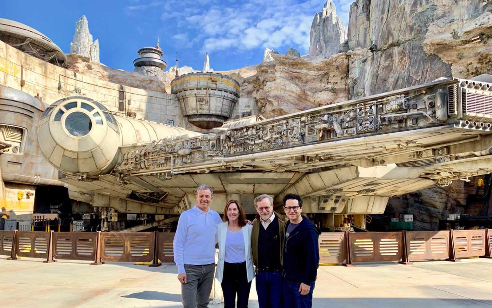 Steven Spielberg and J. J. Abrams Joined a Very Special Tour of Star Wars: Galaxy's Edge at Disneyland