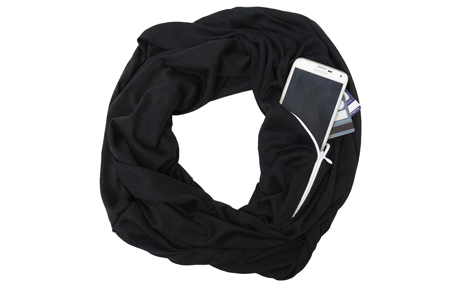 Pop Fashion Scarf With Hidden Pocket
