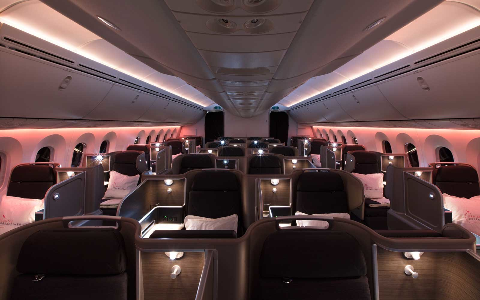 Qantas Dreamliner interior seats