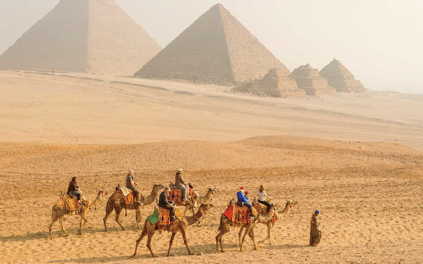 Great Pyramids of Giza, in Egypt
