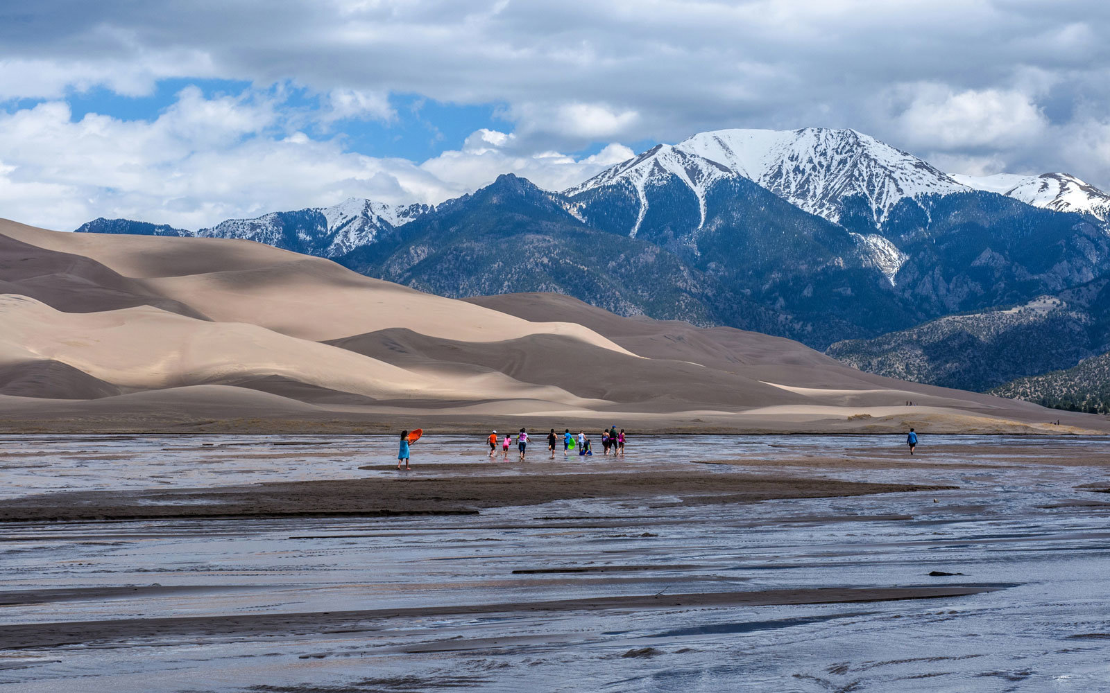 Every Year the Snow Melt Creates an Amazing Natural Waterslide at Great Sand Dunes National Park