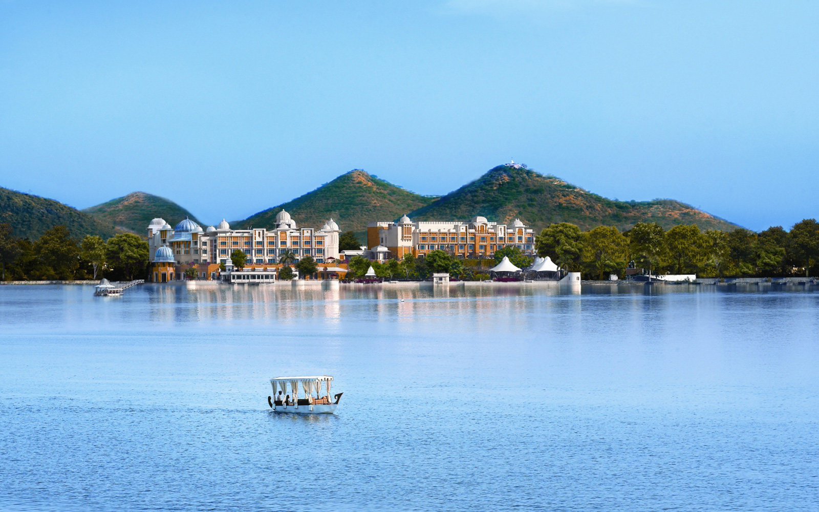 View of the Leela Palace Udaipur, the best resort in India according to Travel + Leisure